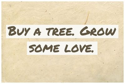 Buy a tree at Serenity Lane and send a message of hope.